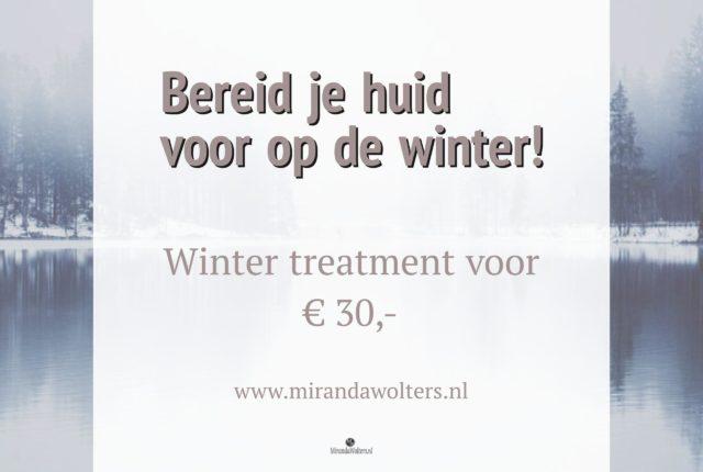 voorbereiden huid op winter